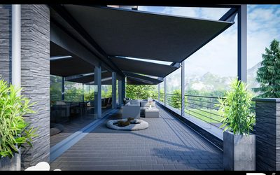 3D Vorab-Visualisierung einer Terrasse zur Verdeutlichung