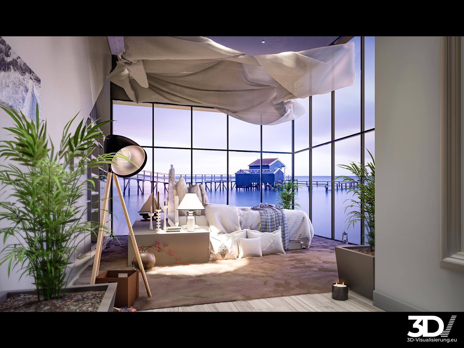 Digitales Homestaging im tageslichtlosem Kellergeschoss