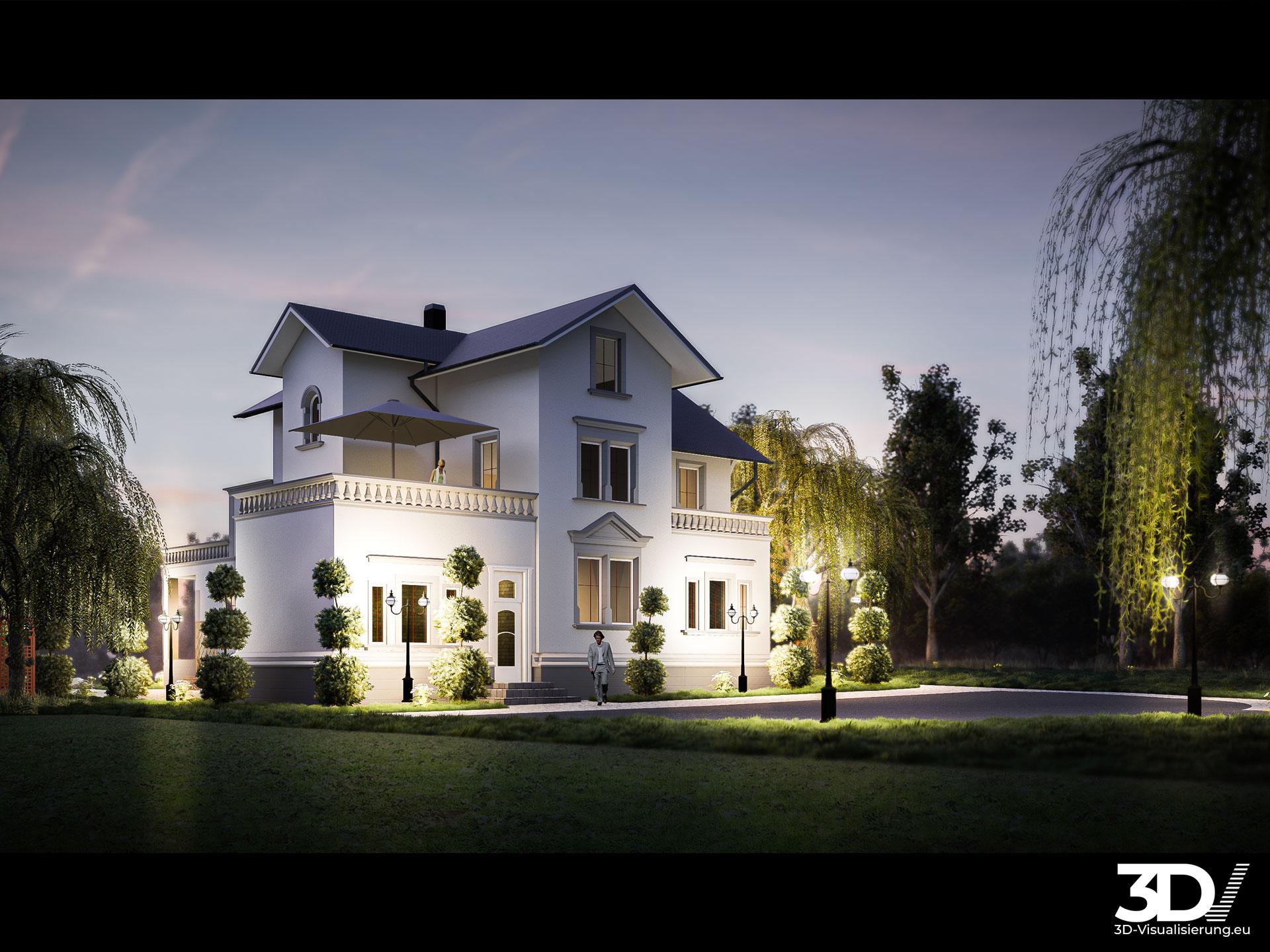 3D Architektur Visualisierung Jugendstilvilla nahe Leipzig | Szene 01