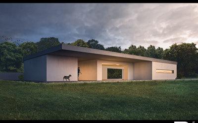 3D Architektur Visualisierung Bauhaus — Villa nahe Böblingen